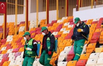 Trabzonspor maçı öncesi stadda Koronavirüs önlemi