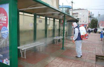 Yomra Belediyesi koronavirüse karşı teyakkuzda