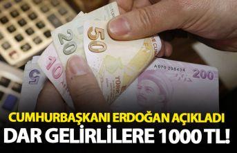 Cumhurbaşkanı Erdoğan açıkladı! Dar gelirli...