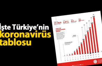 İşte Türkiye'nin koronavirüs tablosu