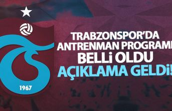 Trabzonspor'da futbolcuların antrenman programı...