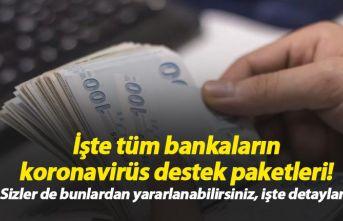 Bankaların koronavirüs destek paketleri!