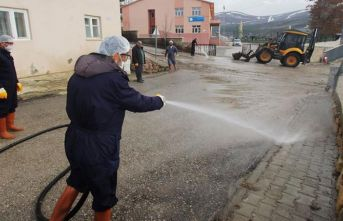 Bayburt'ta temizlik çalışmaları sürüyor