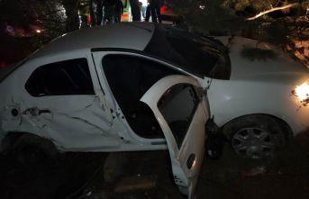 Otomobil ağaca çarpıp şarampole uçtu: 1 ölü...