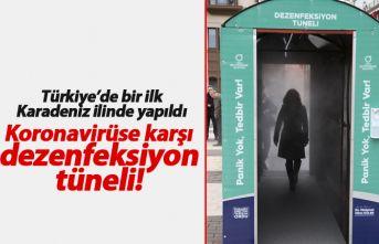 Türkiye'de bir ilk: Dezenfeksiyon tüneli