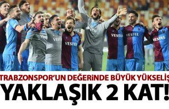 Trabzonspor'da büyük yükseliş! Değeri 2 kata yakın arttı!