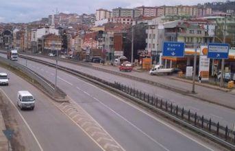 Trabzon-Rize yolunda çalışma