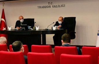 Trabzon Valiliği'nde koronavirüs toplantısı
