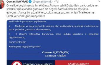 Samsun'da çocuklara market ve pazar yasağı geldi
