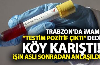 """Trabzon'da imam """"Koronavirüs testim pozitif..."""