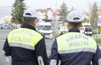 Ordu'da 1 haftada 725 sürücüye ceza