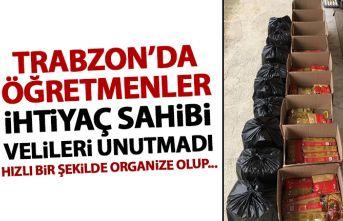 Trabzon'da öğretmenler ihtiyaç sahibi velileri...