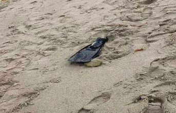 Yüzücü paletinde ayak kemikleri bulundu