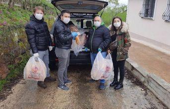 Genç iş adamları köylere yardıma koştu