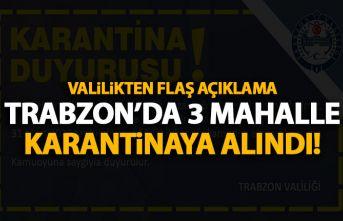 Son Dakika! Trabzon'da 3 mahalleye Koronavirüs...
