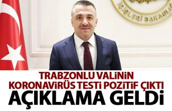 Trabzonlu vali Osman Bilgin koronavirüse yakalandı