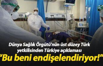 Dünya Sağlık Örgütü'nün Türk yetkilisinden...