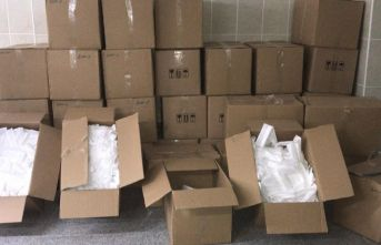 Ordu'da on binlerce sahte maske yakalandı