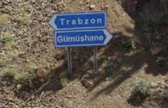 Trabzon-Gümüşhane yolunda çalışma