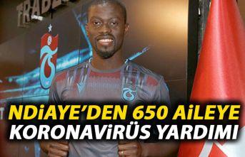 Trabzonspor'un yıldızı Ndiaye'den 650 aileye Koronavirüs yardımı!