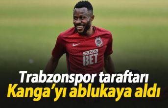 Trabzonsporlu taraftarlar Kanga'yı ablukaya aldı