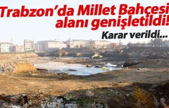 Trabzon'da Millet Bahçesi genişletiliyor