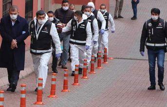 Kayseri'de suç örgütü şüphelisi 8 kişi adliyede