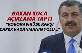 Sağlık Bakanı Koca açıklama yaptı: Koronaya...