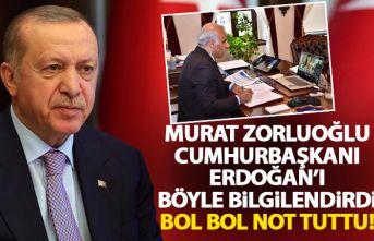 Zorluoğlu, Cumhurbaşkanı Erdoğan'ı böyle...