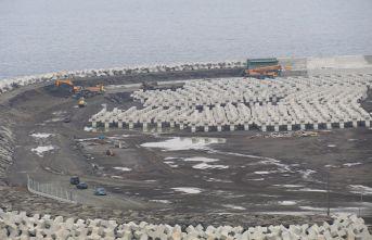 Rize-ArtvinHavalimanı inşaatı hız kesmeden devam ediyor