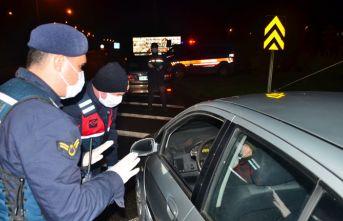 Samsun'da araç giriş çıkışı durduruldu