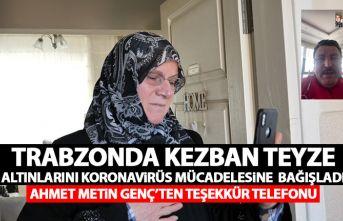 """Trabzon'da """"Biz bize yeteriz"""" kampanyasına altınlarını bağışladı"""