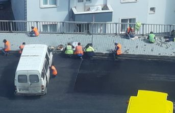 Trabzon'da işçilerin korunaksız çalışmaları vatandaşın dikkatinden kaçmadı!