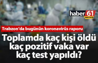 Trabzon'da kaç koronavirüs vakası var ve kaç kişi öldü?