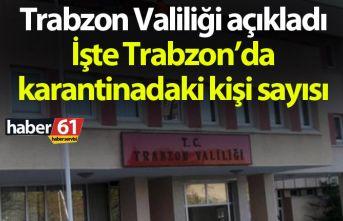 Trabzon Valiliği açıkladı! İşte Trabzon'da...