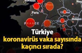 Türkiye vaka sayısında kaçıncı sırada?