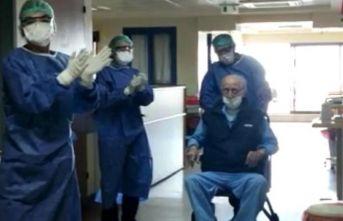 96 yaşında korona virüsü yendi!