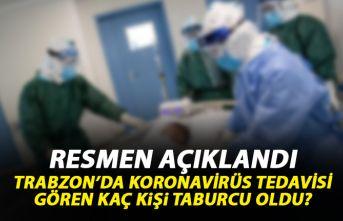 Trabzon'da koronavirüs tedavisi gören kaç...
