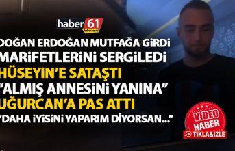 Trabzonspor'un yıldızı Doğan Erdoğan mutfakta marifetlerini sergiledi