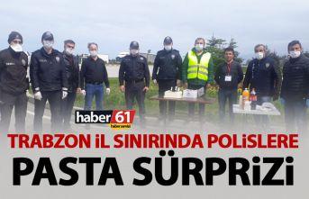 Trabzon il sınırında görev yapan polislere muhtardan...