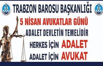 Trabzon Barosu avukatlar günü