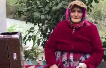 """Trabzon'da yaşlı kadından """"Milli Dayanışma..."""