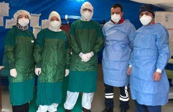 Trabzon'da koronavirüsün merkezinde böyle çalışıyorlar