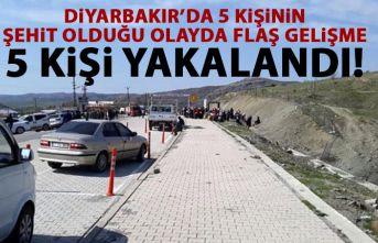 Diyarbakır'da 5 kişiyi şehit etmişlerdi! 5 kişi gözaltına alındı!