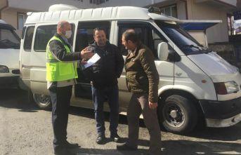 Trabzon'da ulaşım denetimleri sürüyor