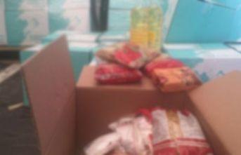 Güce'de ihtiyaç sahibi ailelere gıda yardımı yapıldı