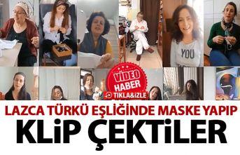 Karadenizli kadınlar maske yaparken lazca şarkı...