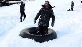 Ayder Yaylası'na kayak keyfi