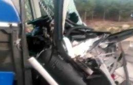 Uşak'ta otobüs kazası
