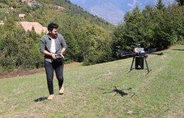 KTÜ'li genç ve 6 arkadaşı Ecodrone yaptılar
